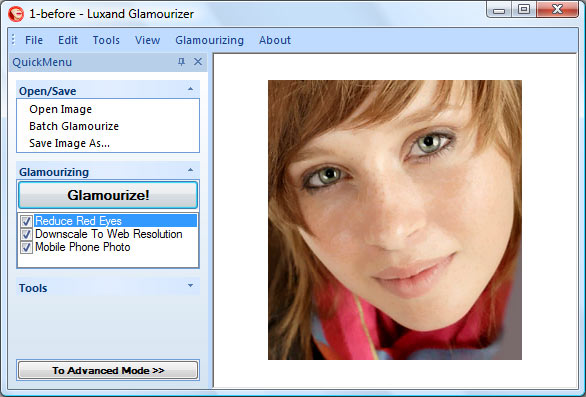 Click to view Luxand Glamourizer screenshots